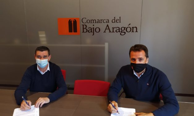 Firma del convenio de colaboración entre la Comarca del Bajo Aragón y la Fundación Centro Buñuel Calanda